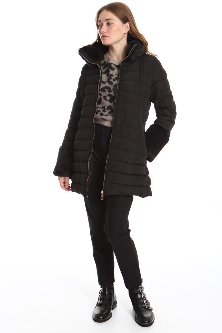 Fur collar puffer jacket Intrend