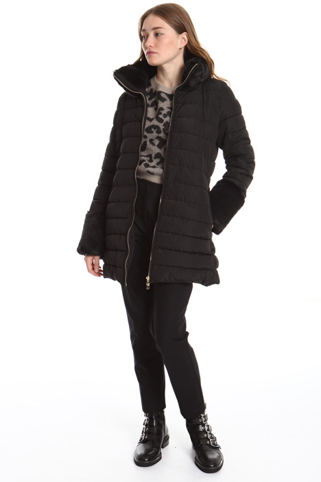 Fur collar puffer jacket Intrend