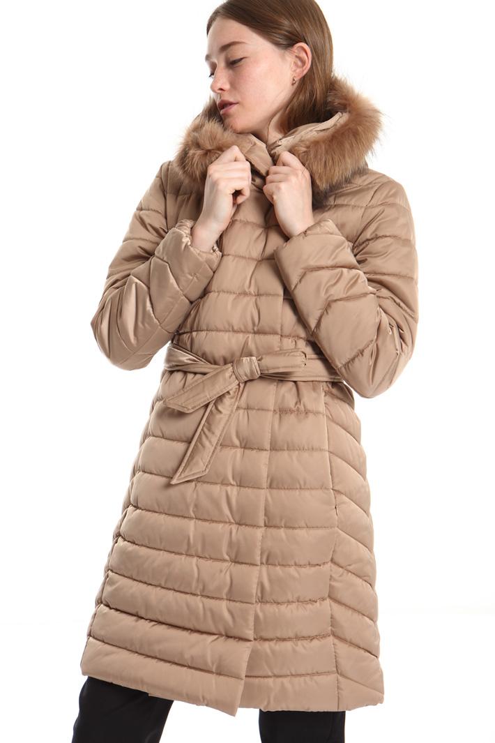 Fur-trimmed puffer coat Intrend
