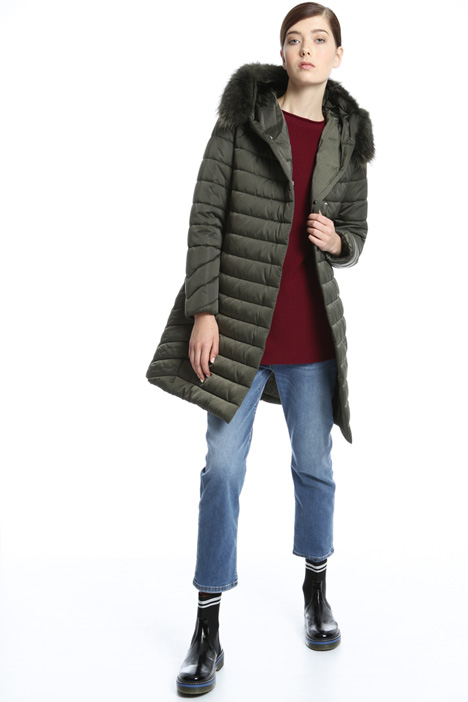 Fur-trimmed puffer coat Intrend
