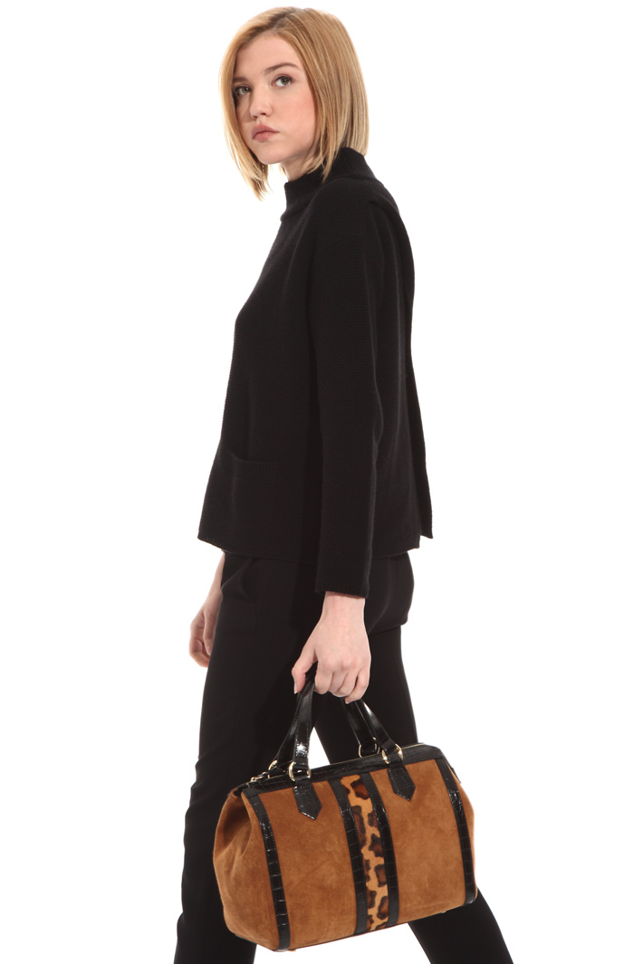 Leather Boston bag Intrend