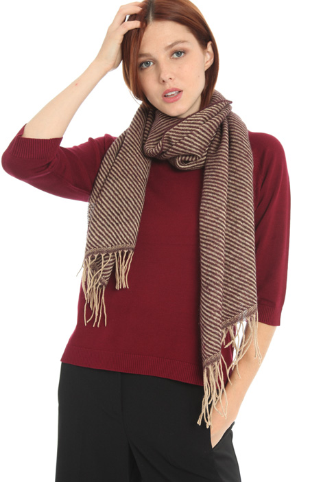 Striped wool blend scarf Intrend