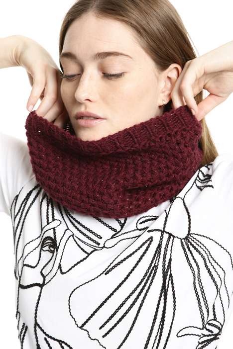 Lurex knit collar Intrend