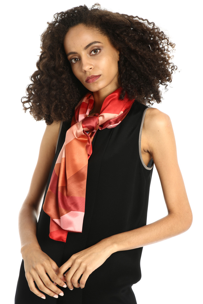 Geometric pattern foulard Intrend