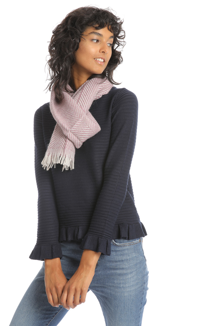 Chevron wool scarf Intrend