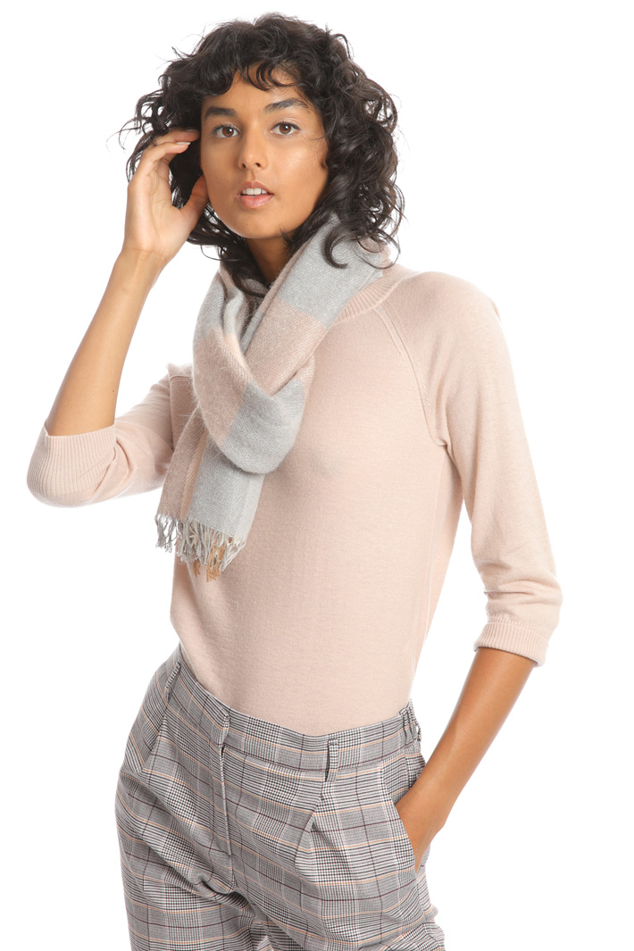 Cotton and mohair scarf Intrend