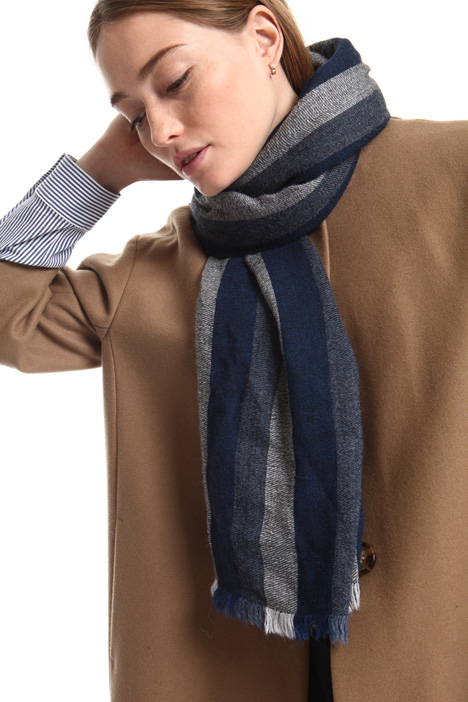 Striped wool scarf Intrend