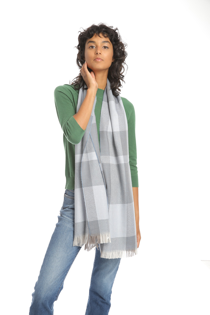 Checked wool scarf Intrend