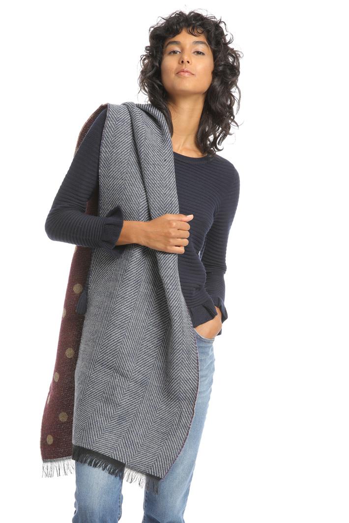 Wool blend polka-dot scarf Intrend