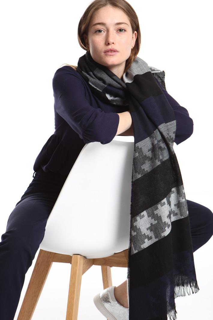 Viscose jacquard scarf Intrend