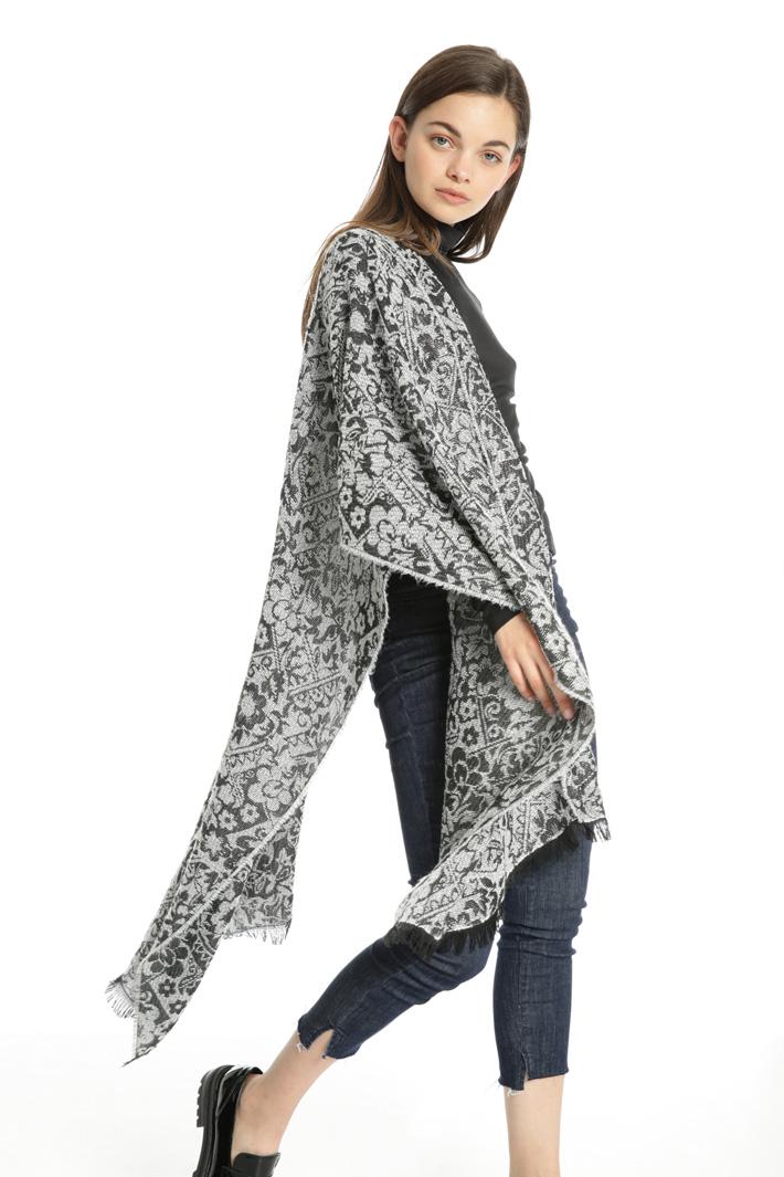 Lurex jacquard scarf Intrend
