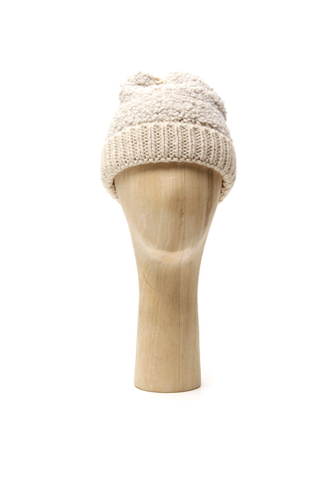 Bouclé wool knit hat Intrend