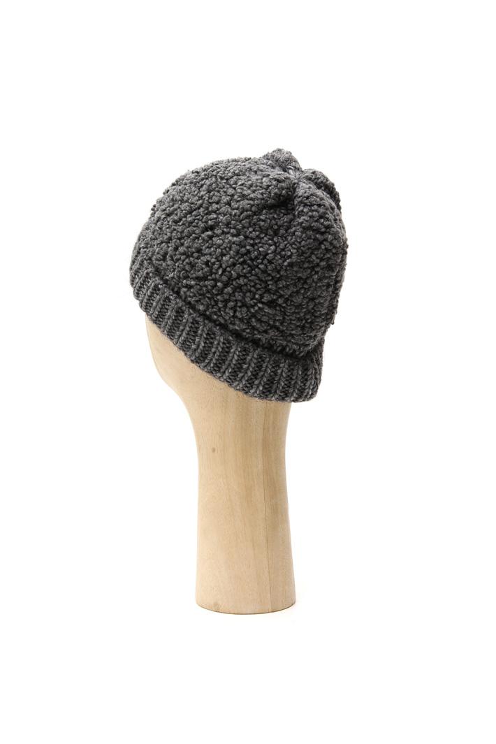 Bouclé wool knit hat Intrend