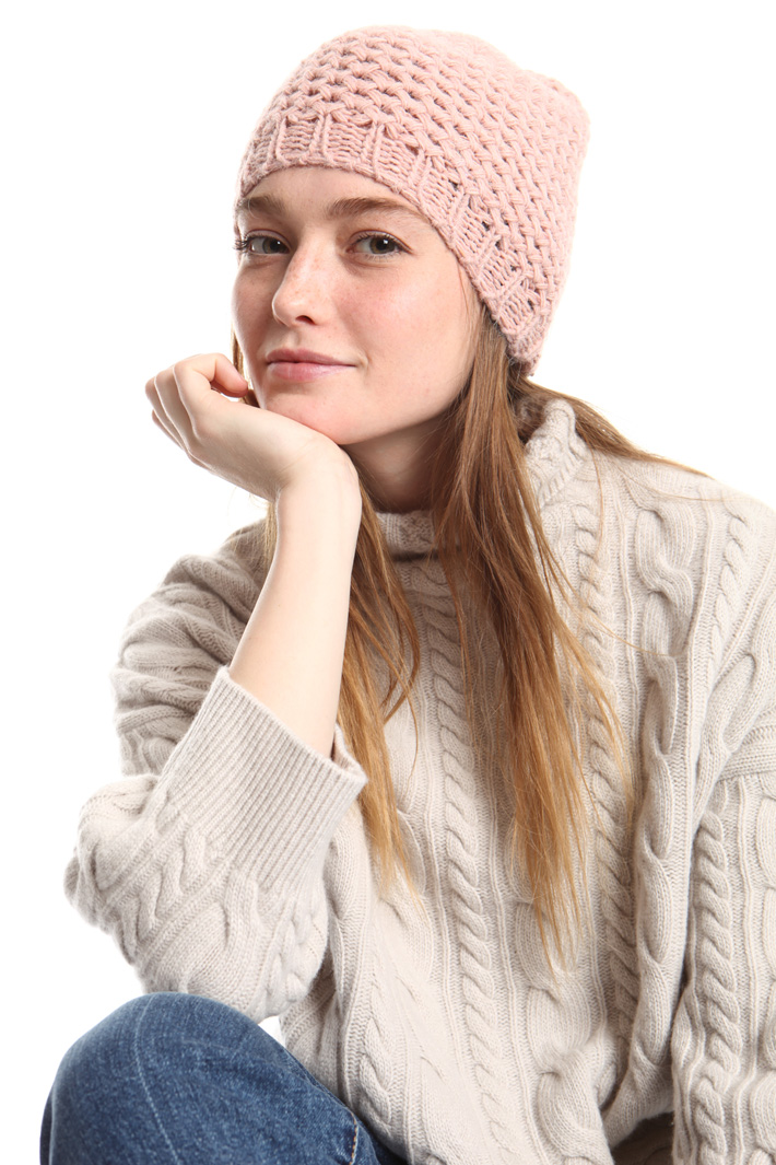Lurex knit beanie hat Intrend