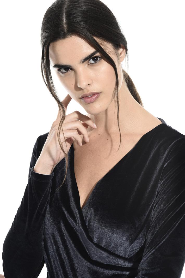Velvet bodysuit top Intrend