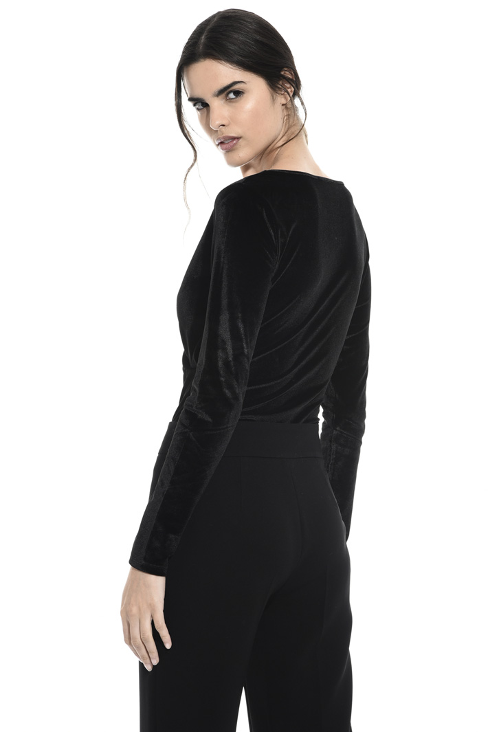 Velvet bodysuit top Intrend