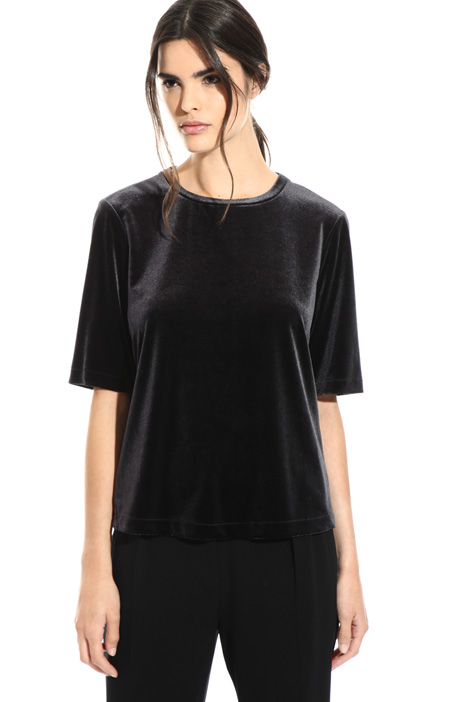 Velvet-effect top Intrend