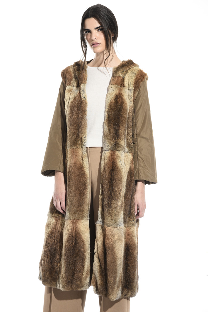 Fur lined parka coat Intrend
