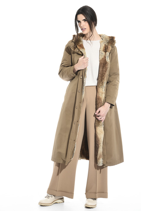 Fur lined parka coat Intrend
