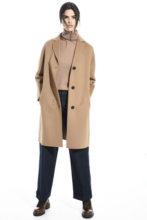Kimono sleeve pure wool coat Intrend