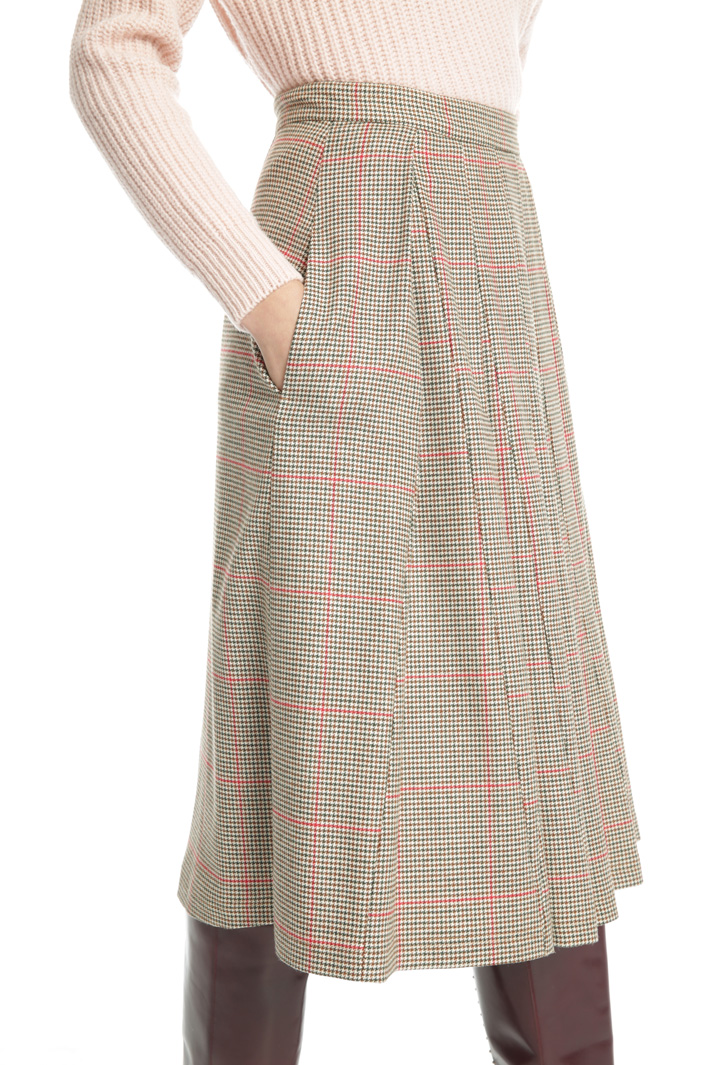 Flannel skirt with pockets Intrend