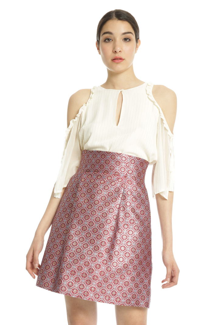 Flared jacquard skirt Intrend