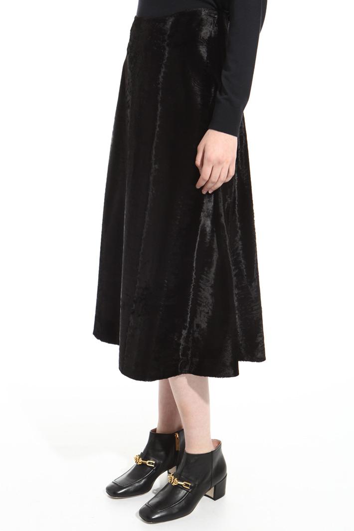 Fur-effect skirt Intrend