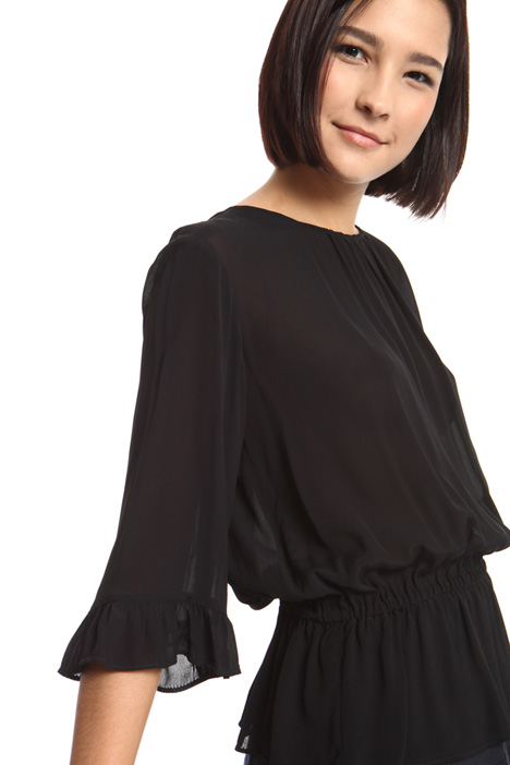 Blusa in georgette di viscosa Intrend