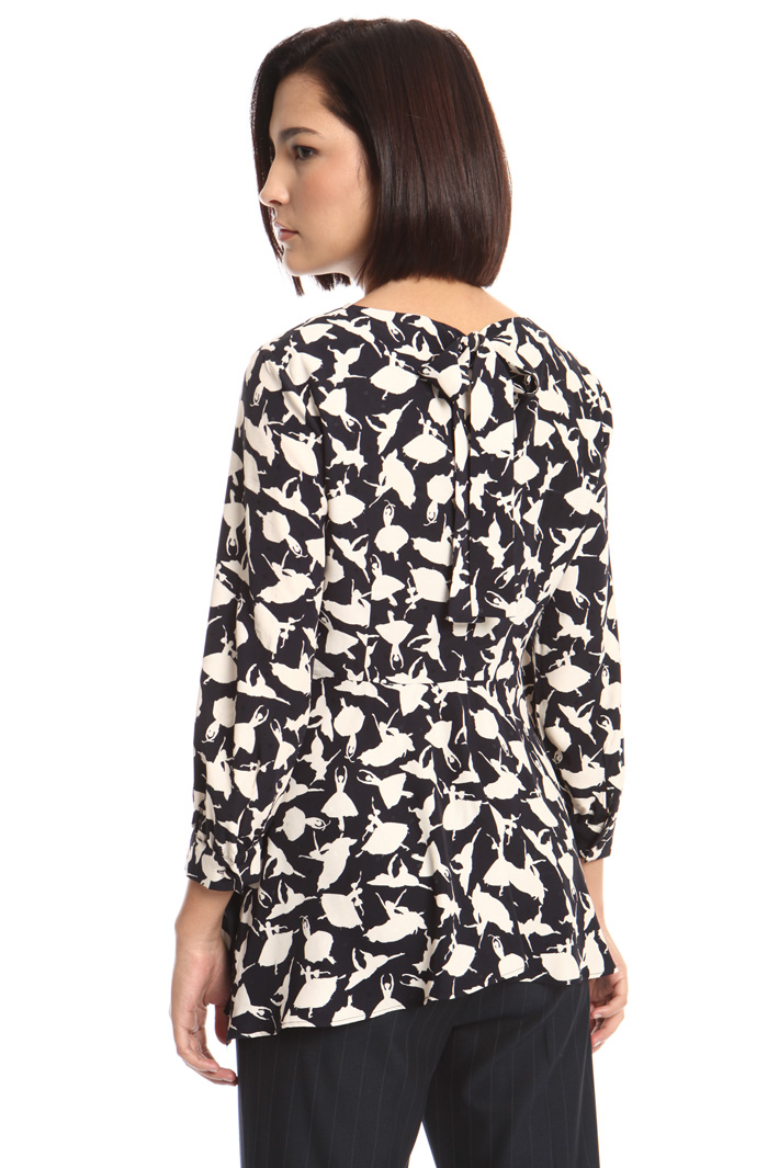 Fluid jacquard blouse Intrend