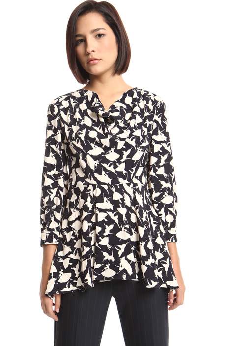 Fluid jacquard blouse Intrend