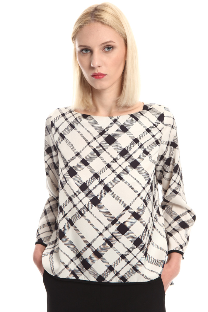 Boxy fit twill blouse Intrend
