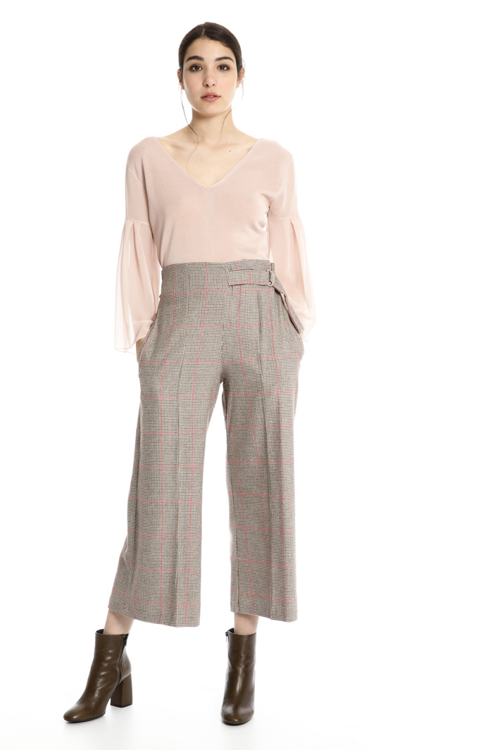 Yarn-dyed wool trousers Intrend