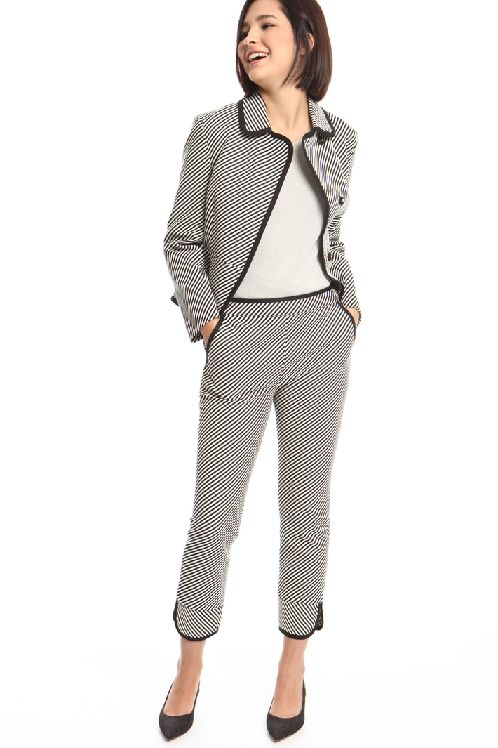 Trousers with lamé detailing Intrend