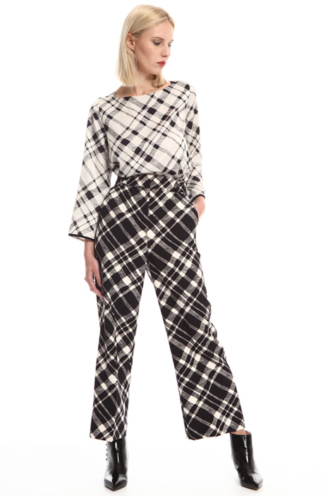 Checked cady trousers Intrend
