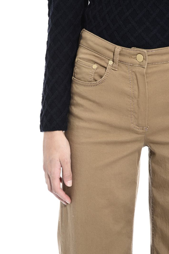 Cotton denim trousers Intrend