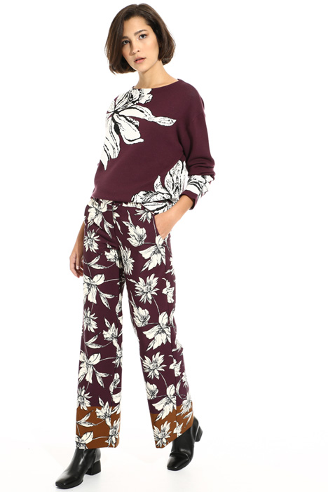 Printed cady trousers Intrend