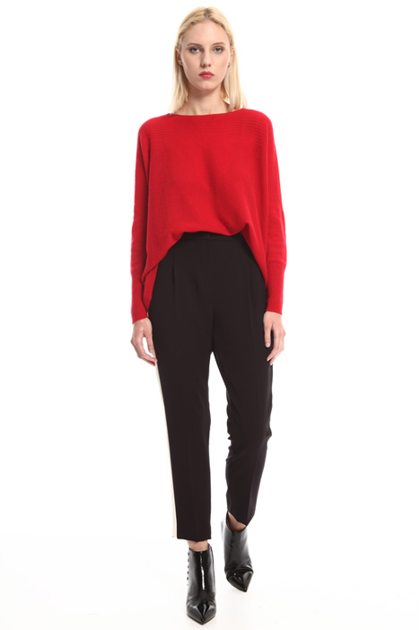 Contrast band trousers Intrend