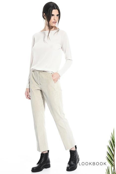 Pantalone regular in velluto Intrend