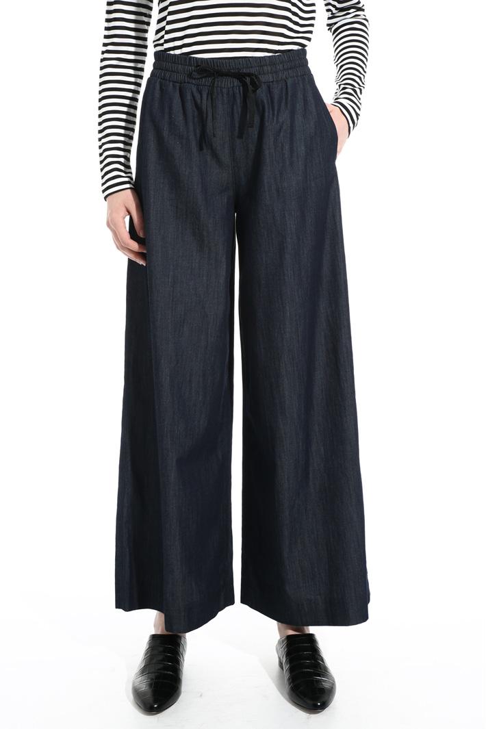 Wide leg denim trousers Intrend