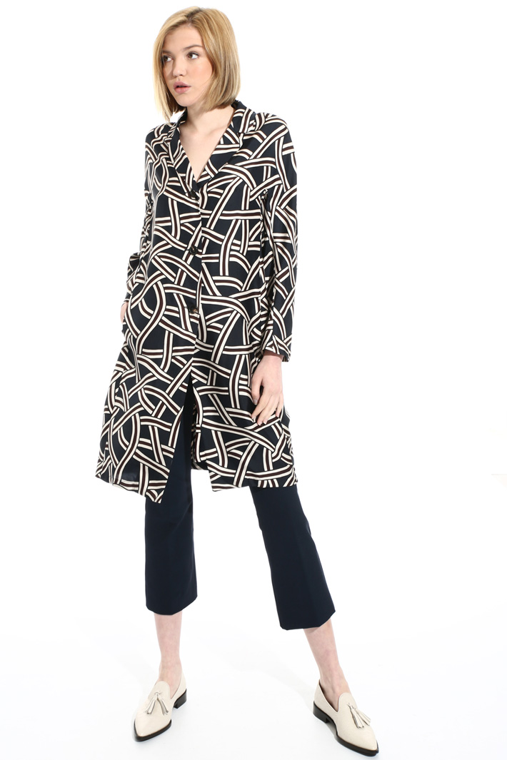 Silk chemisier duster coat Intrend