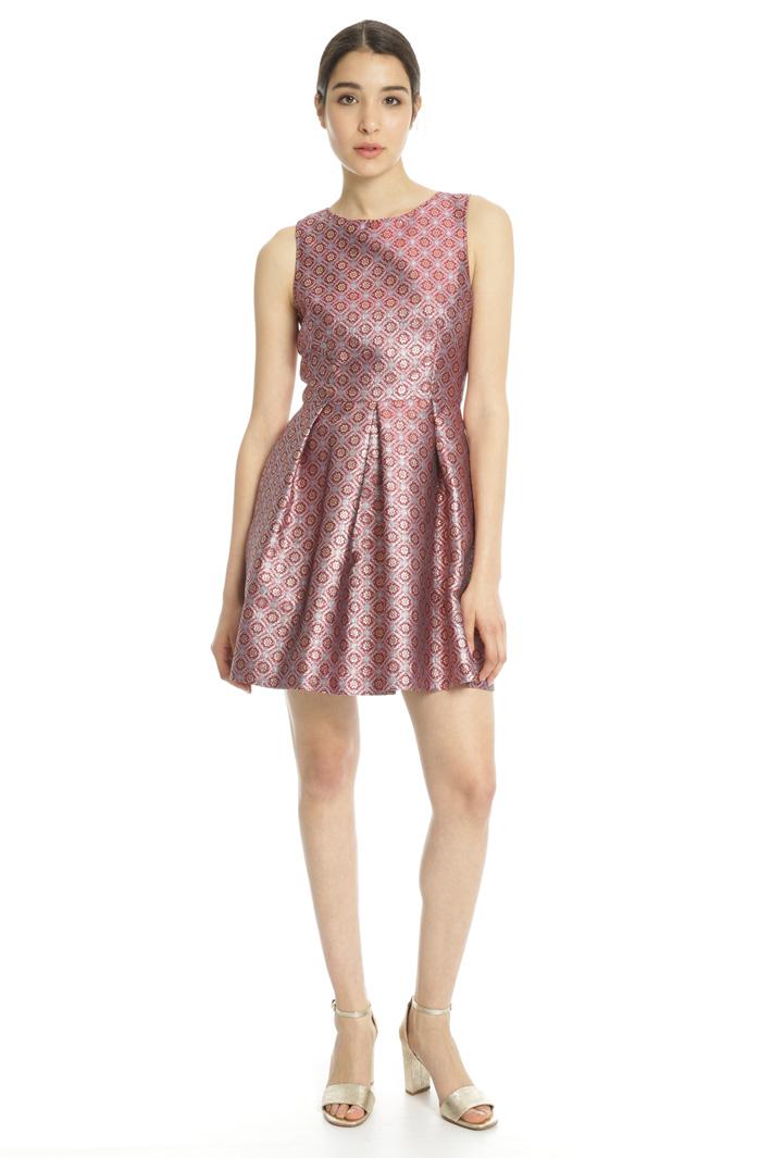 Lurex jacquard dress Intrend