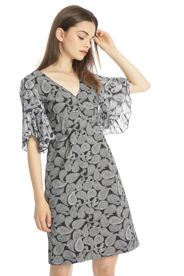 Flared jacquard dress Intrend