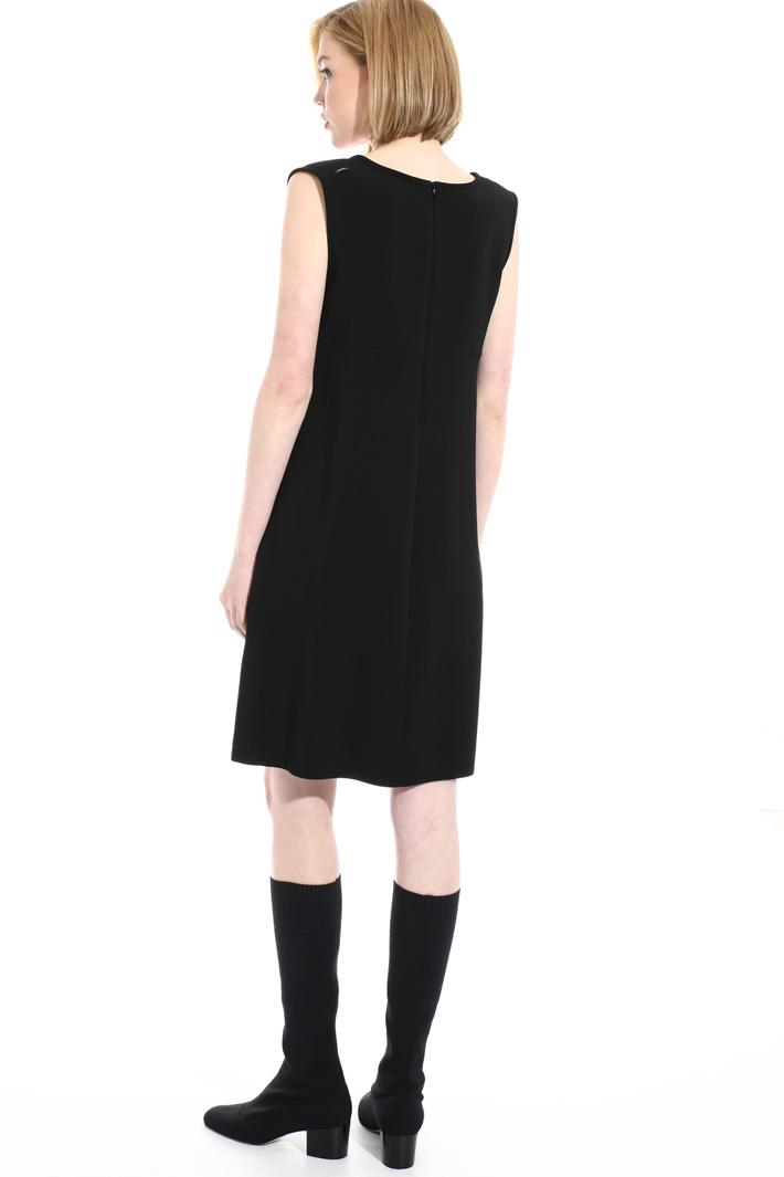 Short viscose cady dress Intrend