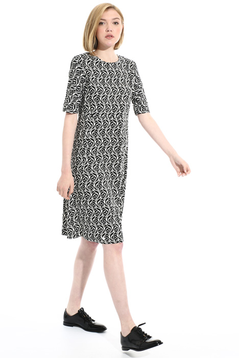 Short viscose cady dress Intrend