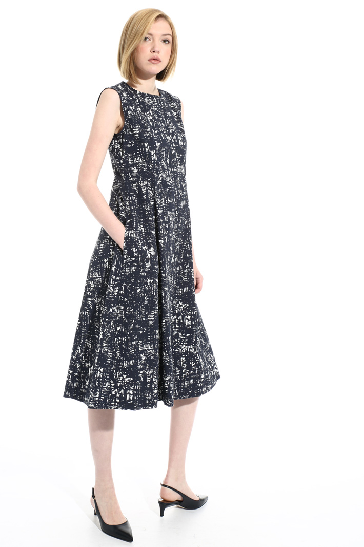 Stretch cotton midi dress Intrend