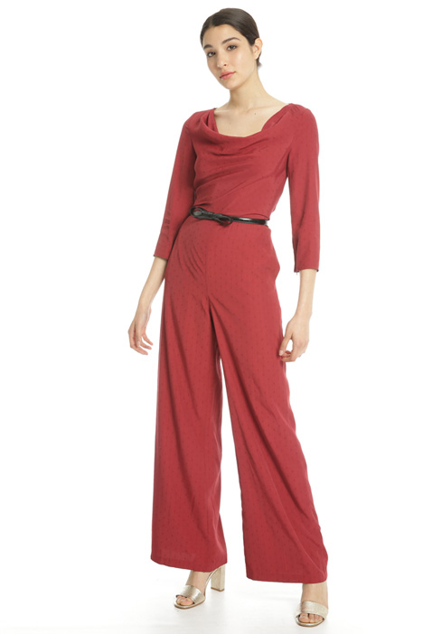 Draped collar jumpsuit Intrend