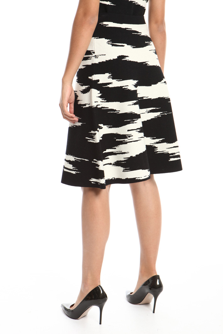 Knitted jacquard skirt Intrend