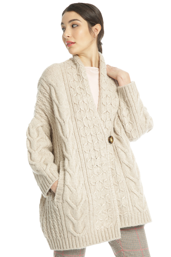 Oversized buttoned cardigan Intrend