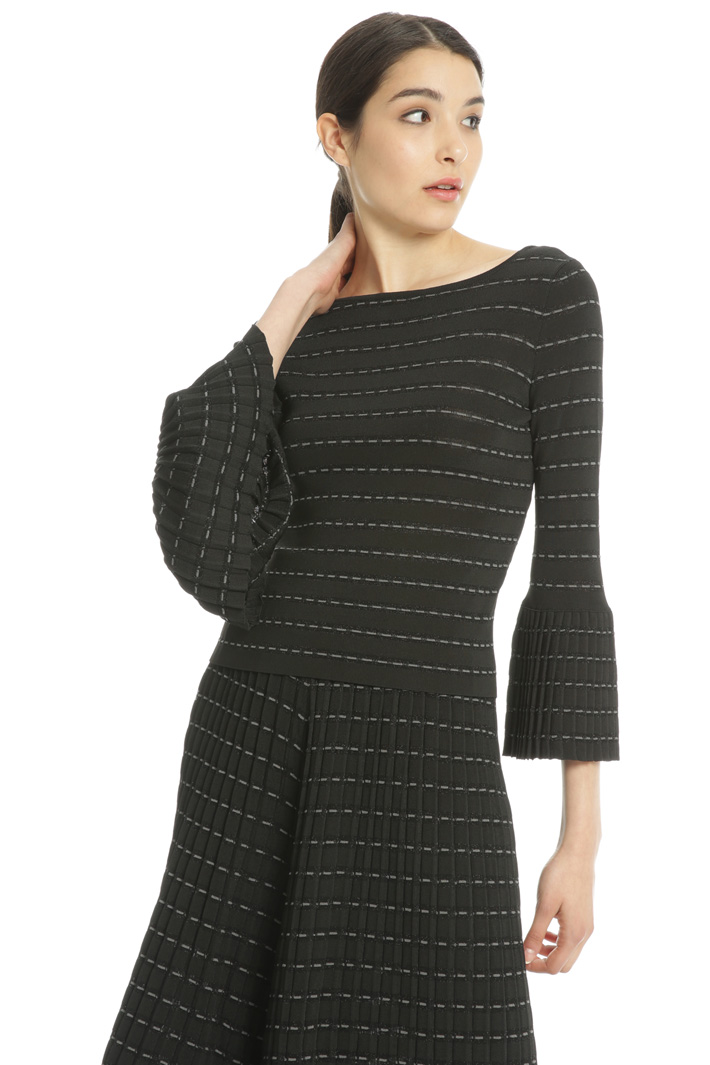 Striped jacquard sweater Intrend