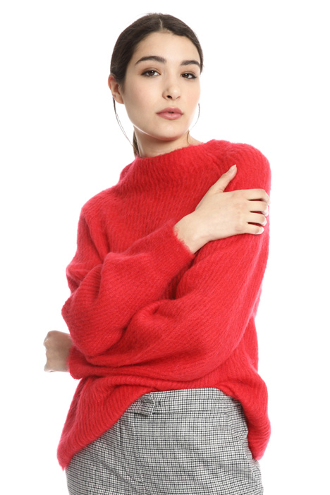 Mohair blend yarn sweater Intrend